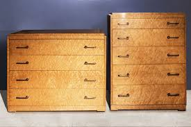 set of two art deco birdseye maple dressers c 1935 rehab