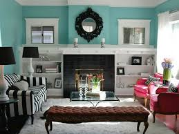 InteriorLiving Room Turquoise Living Ideas With Black White Sofa Decorating Brown