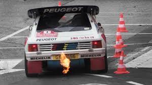 Peugeot 205 T16 Evo 2 Group B Sound Starts Accelerations