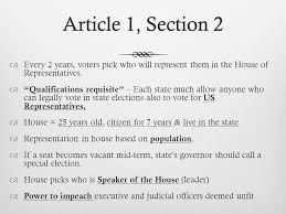 Article 1 Section 1Article 1 Section 1  Congress and only