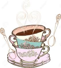 Tea Cup Background With Spoon Illustration Royalty