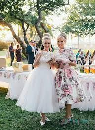 H1524 Vintage Inspired Illusion Lace Bateau Neck Short Wedding Dress
