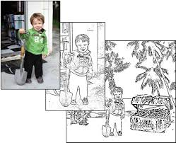 Turn Your Family Photos Into Fun Kids Coloring Books For Free This Simple Tutorial Will Teach You How To Any Photograph Black And White Outlines
