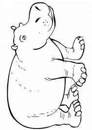 Free Hippopotamus Hippo Coloring Page