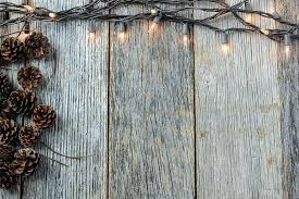 Rustic Wood Lights And On Background Clipart