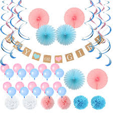 Baby Shower Decorations Neutral For Boy Or Girl Gender Neutral Unisex With Oh Baby Foil Balloons