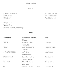 Kid Actor Resume Template Child Free Acting Resumes Templates How To Write An Theatrical