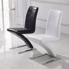 mode esszimmer chiar pu leder meerjungfrau stil moderne esszimmerstuhl schwarz weiß krokoprägung heißer verkauf stühle y019