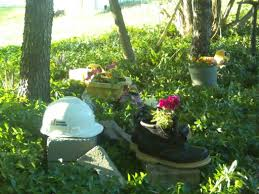 Dump Trucks The Man Garden I Made For My Son Old Work Boots Make Cool Pots