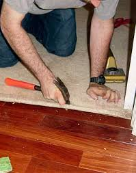 Carpet To Tile Transition Strip On Concrete by Installing Carpet Against Hardwood Floors Step By Step With Photos