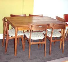 Danish Dining Room Set Teak Furniture For Exemplary Chairs