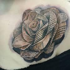 3d Paper Flower Tattoo