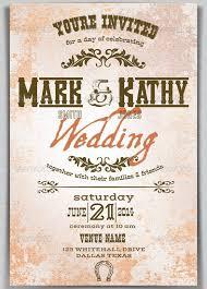 Western Style Wedding Invitations 30 Invitation Templates Free Sample Example Best