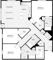 Bedroom Condo Floor Plans Photo by Looking For Space Now Available 3 Bedroom 3 Bath Floor Plan