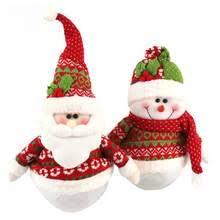 Creative Candy Bottle Christmas Decoration Crafts Children Gift Jar Santa Snowman Round Presents