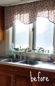 Kitchen Curtain Ideas Above Sink by Classy Kitchen Sink Window Treatments Nice Kitchen Decoration