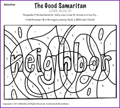 The Good Samaritan Color By Number