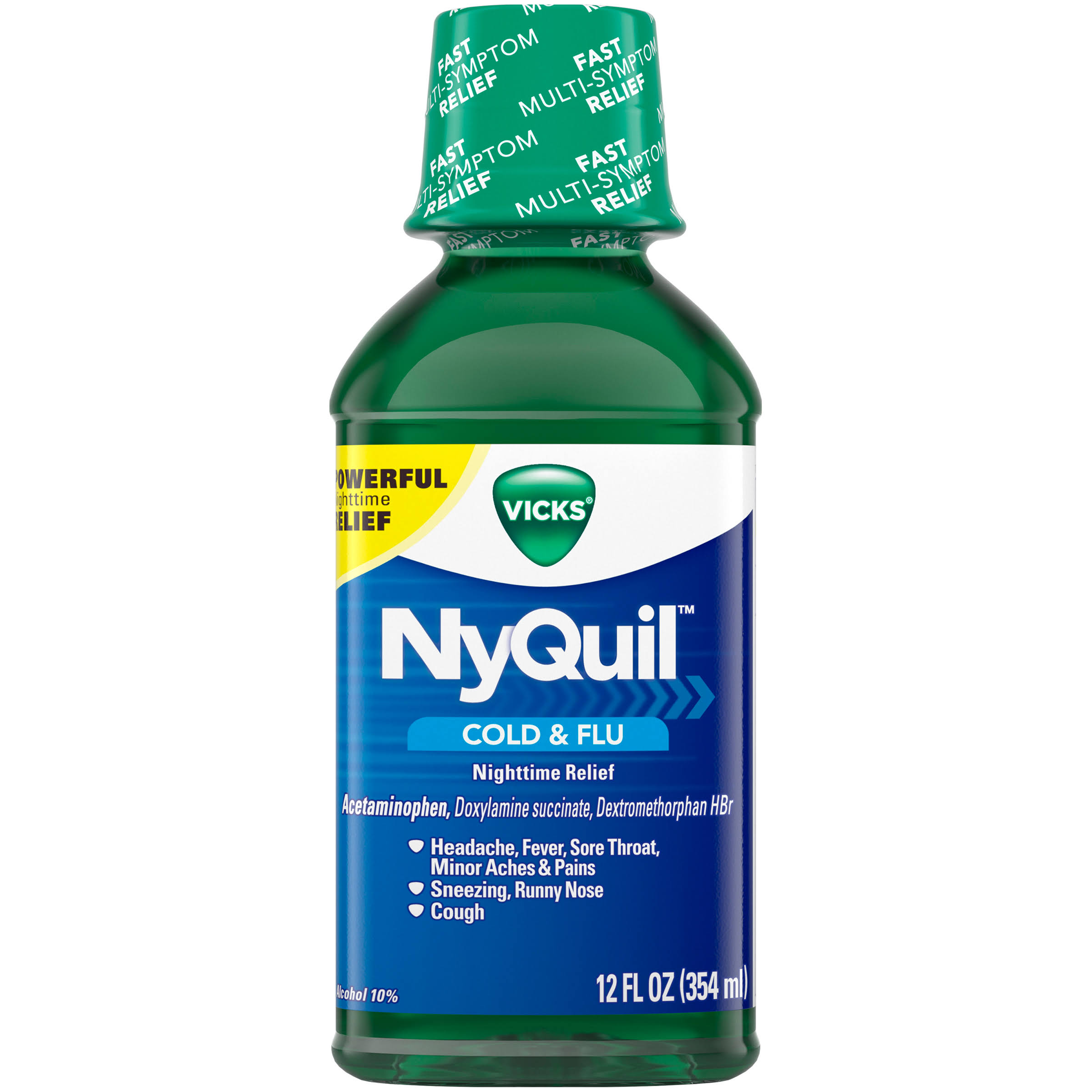 Vicks NyQuil Cold & Flu Nighttime Relief - 12 fl oz
