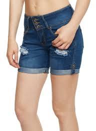 denim shorts for women rainbow