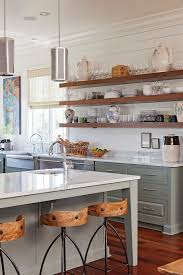 Wood Shelves Design Ideas by Open Kitchen Shelves Farmhouse Style White Cupboards Open