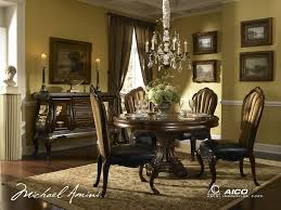 Michael Amini Living Room Sets by Buy Palace Gates 54 Round Dining Table W Glass Insert By Aico From