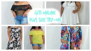 giti online plus size try on haul youtube