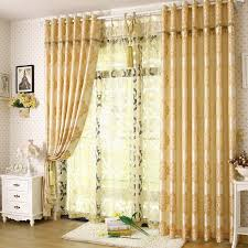 noble bedroom or living room light yellow curtains