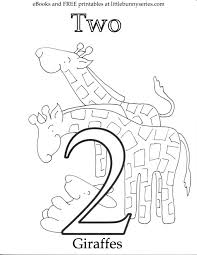 Number Coloring Page Worksheets Of 2 Educations Sheets For