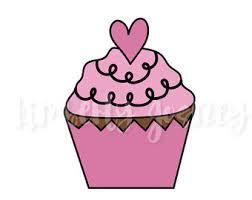 Pink Cupcake Clipart cute cupcake cupcake clip art cupcake graphic cupcake digital