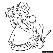 Princess And Frog Online Coloring Page