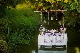 Purple White Rustic Romantic Wedding Inspiration Via TheELD
