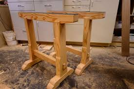 How To Build Wooden End Table by 5 Simple Sawhorses You Can Build In Less Than An Hour
