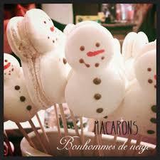 macarons vanille bonhomme de neige la maîtresse pâtisse