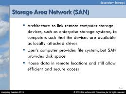 Architecture To Link Remote Computer Storage Devices Such As Enterprise Systems Computers