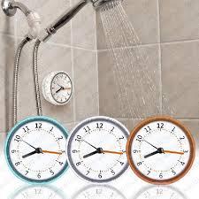 2020 bad verhindern nebel wasserdicht dusche mini wanduhr bad uhr küche saug uhren wohnzimmer in spiegel