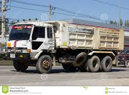 Private Mitsubishi Fuso Dump Truck Editorial Stock Photo - Image Of ...