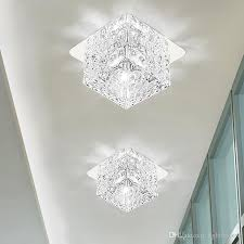 großhandel wohnzimmer spotlight led deckenleuchte aisle plafond licht kreative korridor klein unten le quadrat edelstahl kristalldeckenleuchte
