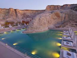 100 Aman Grand Canyon Exclusive Image The Giri Swimming Pool At Dusk