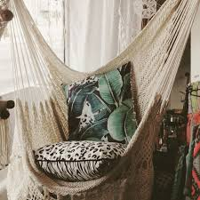 Brazilian Padded Hammock Chair by Hanging Hammock Chair With Macrame Solid Color Swing Chair