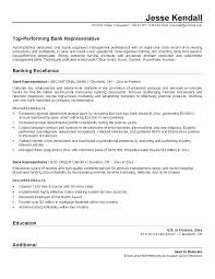 Resume Samples For Banking With Customer Service Representative Sample Bank Examples Resumes