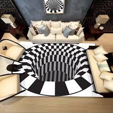 großhandel 3d teppiche luxus teppich optische illusion rutschfeste badezimmer wohnzimmer boden matte 3d druck schlafzimmer wohnzimmer bettkaffee tisch