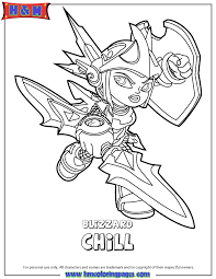 Skylanders Swap Force Water Series2 Blizzard Chill Coloring Page