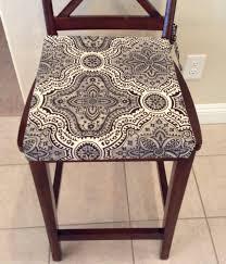 Rustic Print Seat Cushion Cover Kitchen Chair Pad Neutral ...