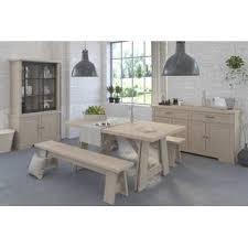 esszimmer tisch mit 2 bänken sideboard und vitrine 1 649 00