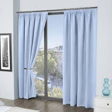 Thermal Lined Curtains Australia by Blackout Lined Pencil Pleat Thermal Blue Curtains U2013 Slumber Suite