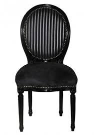 casa padrino barock esszimmer stuhl schwarz schwarz grau streifen mod2 rund