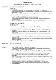 Download Laboratory Technician Resume Sample As Image File
