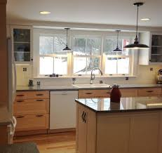 Kitchen Lighting Over Sink Pyramid Steel Mid Century Modern Metal Gold Countertops Flooring Backsplash Islands