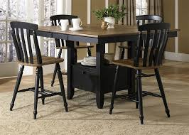 Elegant 5 Piece Dining Room Sets by Elegant Black Counter Height Dining Table And Chairs Square Set