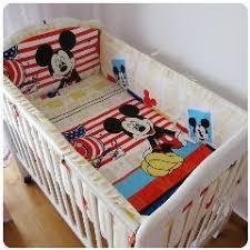 newest 7pcs embroidered baseball sports pattern boby baby cot crib